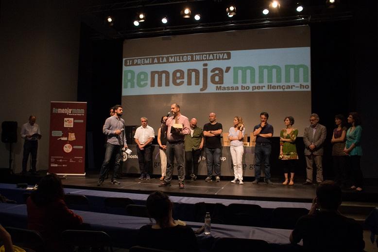 Un sistema de recompenses per als comensals més sostenibles guanya el Premi a la Millor Iniciativa Remenja'mmm