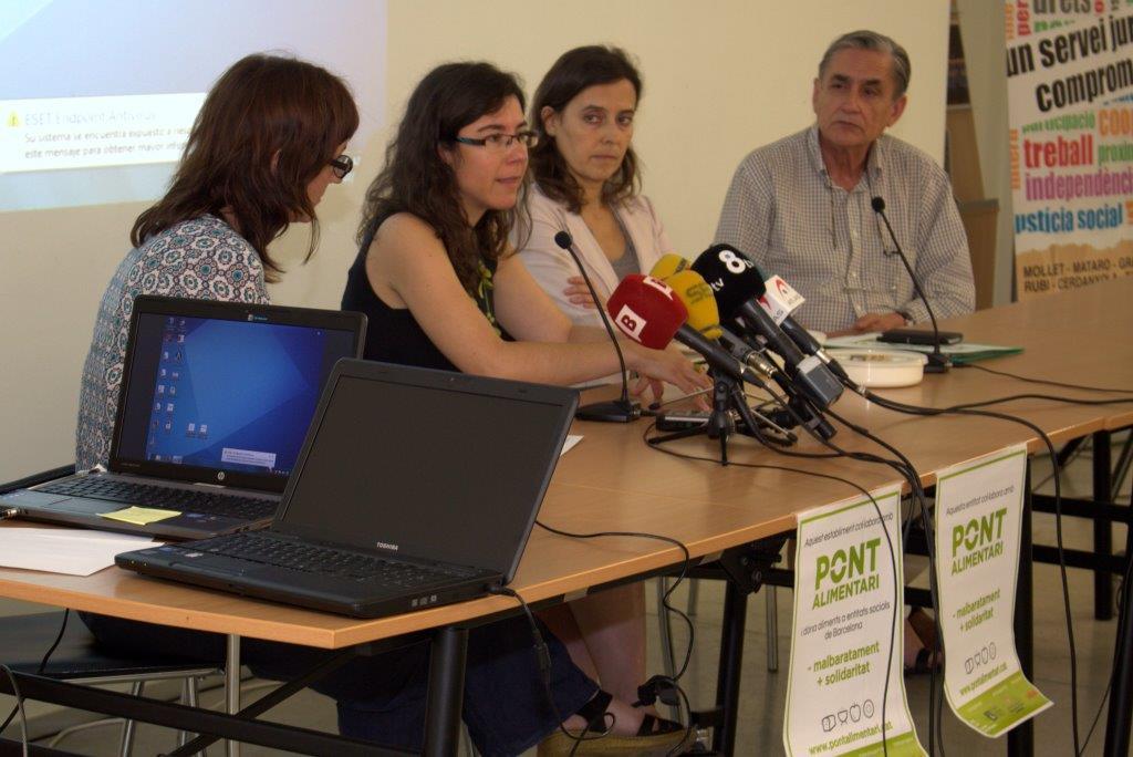 Roda de premsa per presentar el Pont Alimentari