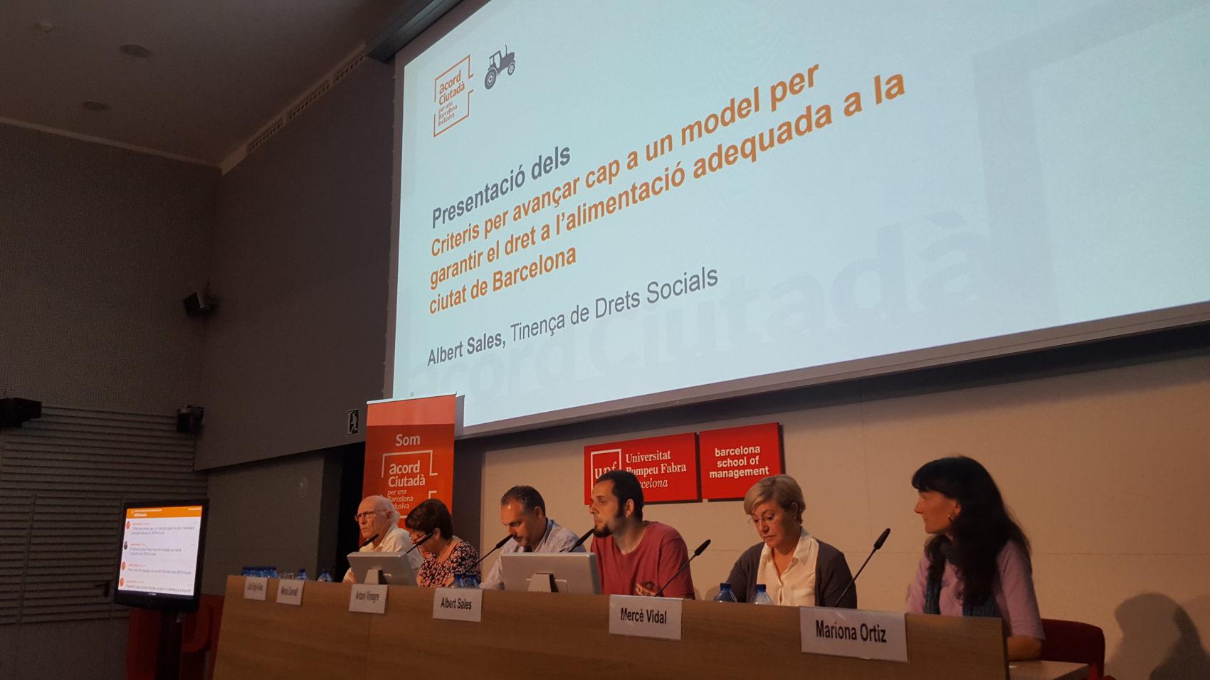 Conferència 2017 del Projecte Tractor Barcelona Garantia Social